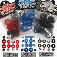 THUNDER Skateboard Truck Bushings Rebuild Kit - Axle Nuts, Kingpin Washers, Cups
