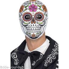 Men's Day of the Dead Senor Ossa Maschera Halloween Fantasia Abito Orrore Divertente