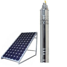 Solar Water Pump 24v DC 80M Deep Well Solar Submersible Pump Steel Machine