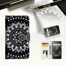 Black Aztec Tribal Wallet TPU Case Cover for Sony Xperia XZ A005