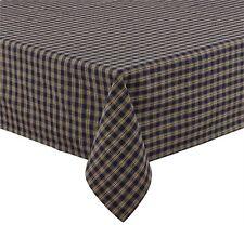 Primitive Country Navy Sturbridge Tablecloth 54x54 Plaid Cotton Farmhouse