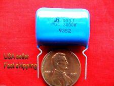12 pcs -  .003uf  (0.003uf, 3000pf)  3kv (3000v)  5%  poly film capacitors