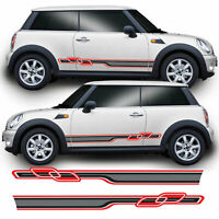 Race Side Stripes For R56 Mini Cooper S One JCW Vinyl Decal Sticker Graphics