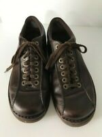 Dr Doc Martens PERRY Brown Leather Bicycle Toe Oxford Shoes US 11 EUR 45 UK 10