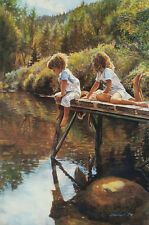 "Steve Hanks, ""Watching and Reflecting"", Ltd edition offset litho, 20""h x 13.25""w"