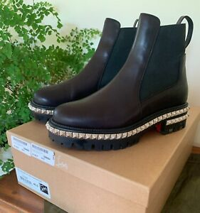 Christian Louboutin  Ankle Boots Black Leather 'By The River' Size 40.5 EU