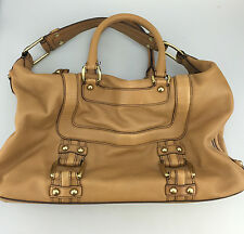 Banana Republic Handbag Leather Doctors Bag Purse Designer Bag Tan Brown