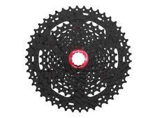 Sunrace 10 Velocidades Casete CSMX3 11-46 Dientes Negro con Rojo Lockring