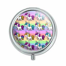 Cute Kawaii Unicorns Pattern Pill Case Trinket Gift Box