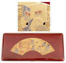 Vintage Japanese Lacquer Enamel Cigarette Case Antique Japan Maki-e Makie Urushi