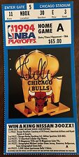 Steve Kerr Autographed 1994 Chicago Bulls Ticket Signed Golden State Warriors