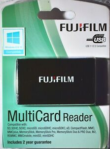 FUJIFILM MultiCard Reader All current cards from MicroSD,SDHC,xD, MStick to CF