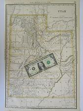 Ut 1888 dated Utah Map. McNally Business Wahsatch & Jordan Valley Railroad 1800s