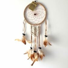 NEW TRADITIONAL STYLE CREAM DREAM CATCHER MOBILE NATIVE AMERICAN, BROWN, 029