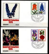 Gartenblumen. 2 FDC(1). W.Berlin 1976