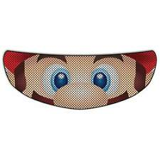 Super Mario Bros Visor Sticker Motorcycle Biker Shield Decal Tint Eyes NEW