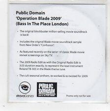 (FW590) Public Domain, Operation Blade 2009 - 2009 DJ CD