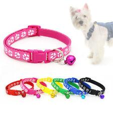 Collar del animal doméstico huella encantador para gato gatito perro cachorro con campana del tintineo Ajustable