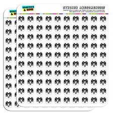 "Ram Head Black on White 0.5"" Scrapbooking Crafting Stickers"