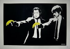 Banksy - screen print serigraph Pulp Fiction