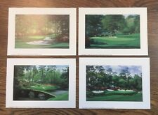 """4 - 5""""x7"""" Augusta National golf prints 10th,11th,12th,13th MASTERS free shipping"""