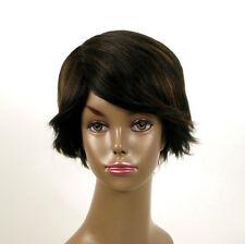 perruque afro femme 100% cheveux naturel méchée noir/cuivré WHIT 02/1b30