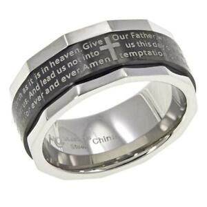 Michael Anthony Jewelry 2Tone Lord's Prayer Spinner Ring Size11 HSN