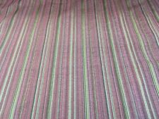 Sanderson Fairfax Pink Woven Stripe Fabric By The Metre