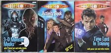 BBC DOCTOR WHO.D TENNANT ACTIVITY BOOKS X 3.2007-8-9.UNUSED COMPLETE,NO ENTRIES.