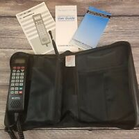 Vintage Motorola SCN2523A Brick Mobile Car Cell Phone w/ Battery & Zip Up Case