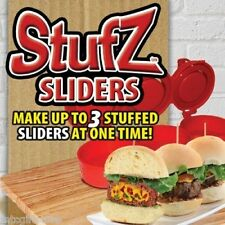 As Seen on TV - Triple Slider StufZ Burger Press - BBQ Grill Burger Stuffer