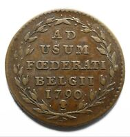 1790 Belgium 2 Liards / 2 Oorden Insurrection Coinage - Lot 883