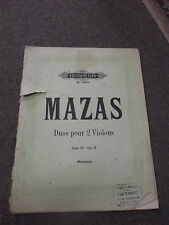 Mazas Duos pour 2 violon opus 39 cahier 2  violon 1