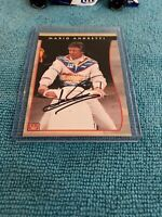 mario andretti autograph Card Indy Racing