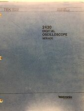 Tektronix 2430 Digital Oscilloscope Service Manual P/N 070-4917-00
