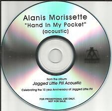 ALANIS MORISSETTE Hand in My pocket ACOUSTIC TST PRESS PROMO DJ CD single 2005