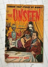 The Unseen #14 pre-code horror terror monsters of the deep comic book 1954 rare!