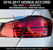 2016-17 Honda Accord Sedan RUBY RED Rear Tail Light Signal Reverse Overlay Tint