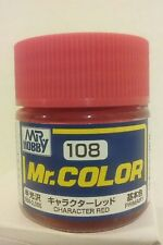 Gunze Sangyo Mr Color C-108. Semi-Gloss Character Red.