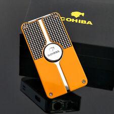 COHIBA Classical Tobacco Herbal Cigar Lighter 3 Jet Flame Butane Gas Lighter