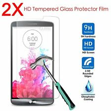2Pcs 9H+ Premium Tempered Glass Film Screen Protector For LG Cell Phone LG G3