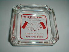 Rouleau Granite Barre Vermont VT Advertising Glass Ashtray