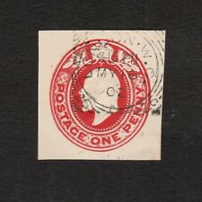 GREAT BRITAIN 1902 KING EDWARD VII 1d EMBOSSED STAMP PRINTED ON BOTH SIDES