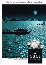PUBLICITE  1996   EBEL  collection montre chronographe LE MODULOR