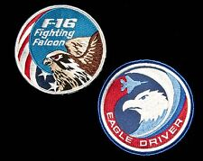 USAF F-16 Viper & F-15 Eagle Patches Fighter Iraq Afghanistan War on Terrorism