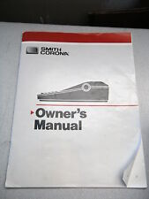 User Manual ONLY for Smith Corona DeVille 125 Spell Right II Dictionary