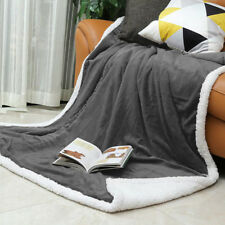 Premium Enhanced Thickness Heat Preservation Warm Fleece Woollen Throw Blanket
