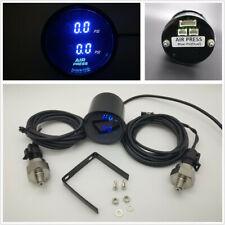2'' Blue LED Digital Dual Air Pressure Gauge PSI w/2pc 1/8NPT Electrical Sensors