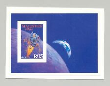 Maldives #1272 Apollo, Space 1v S/S Imperf Proof on Card