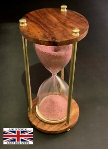 """Antique Sand timer Wooden Hourglass Vintage Hourglass Maritime Nautical Decor 6"""""""